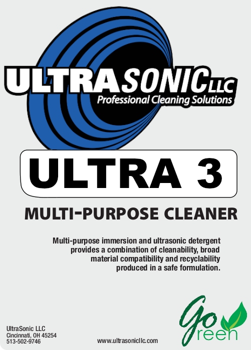 Ultra 3 Multi-Purpose Ultrasonic Detergent
